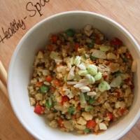أرز القرنبيط الصيني الصحي - Healthy Cauliflower Fried Rice