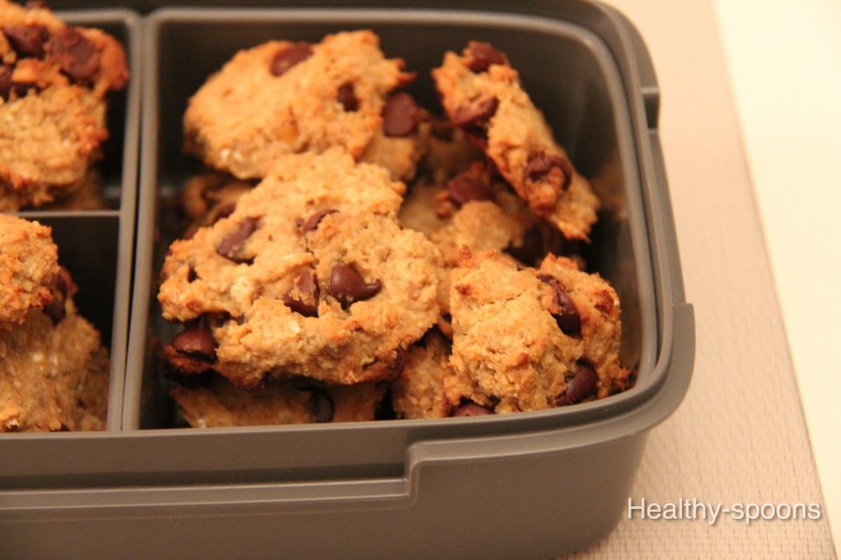 Chickpea Chocolate Chip Cookies - كوكيز الحمص و رقائق الشوكلاتة
